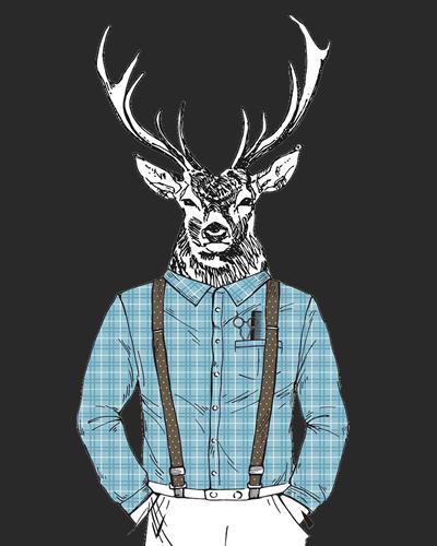 half stag blue